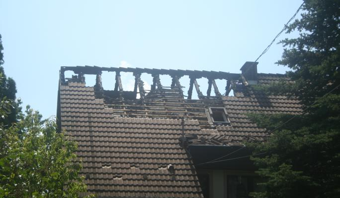 A leégett tető